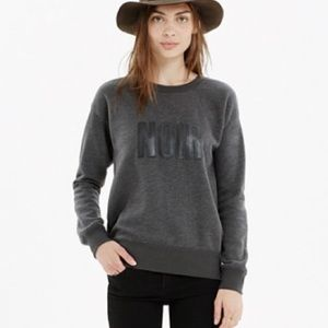 Madewell NOIR Crewneck Pullover Sweatshirt